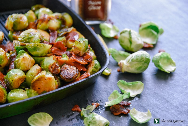 bacon glazed brussel sprouts victoria gourmet recipe