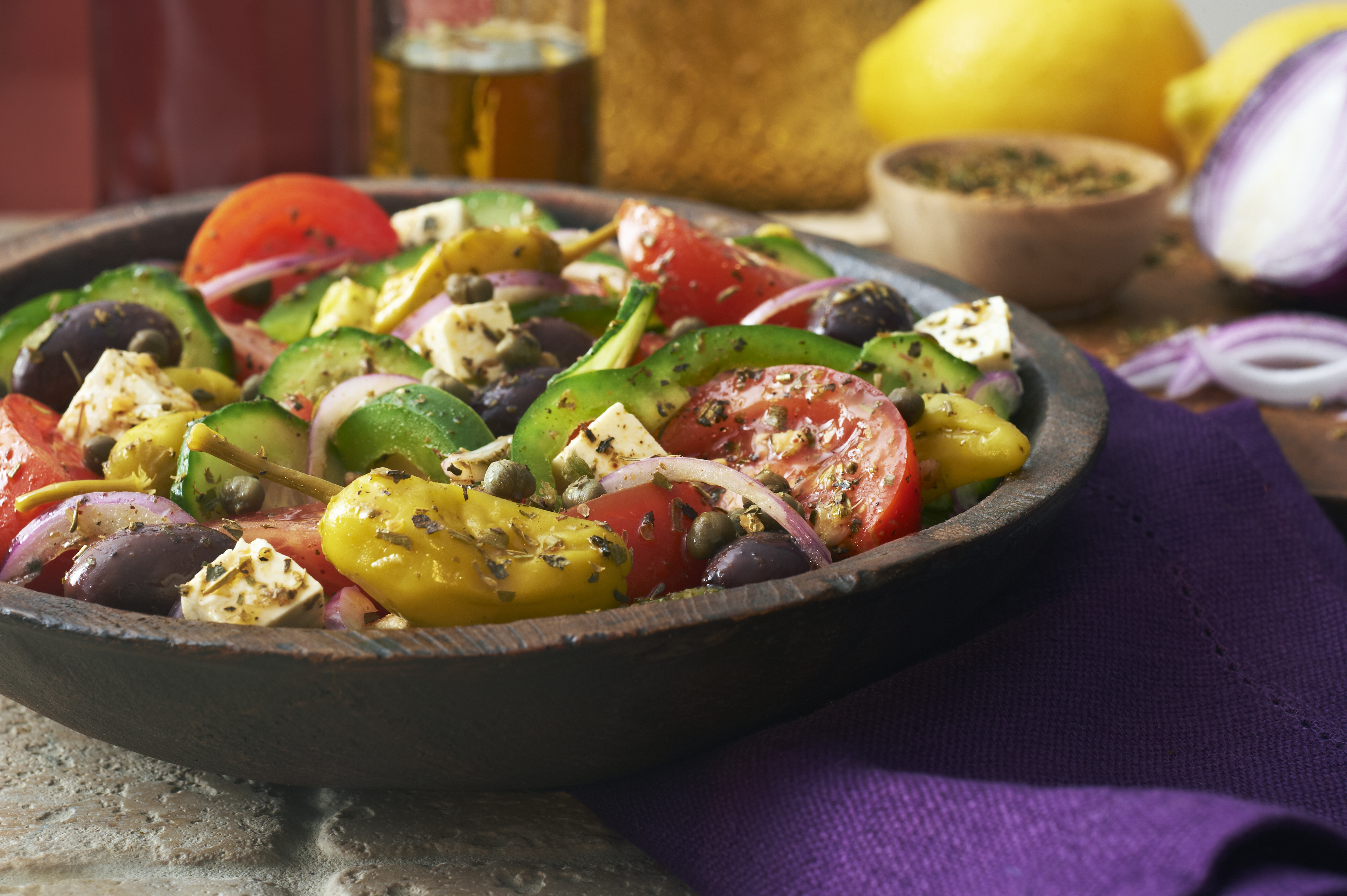 village greek salad recipe mediterranean spices victoria gourmet recipes]