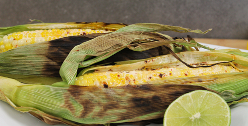 Chipotle Corn on the Cob Grilled