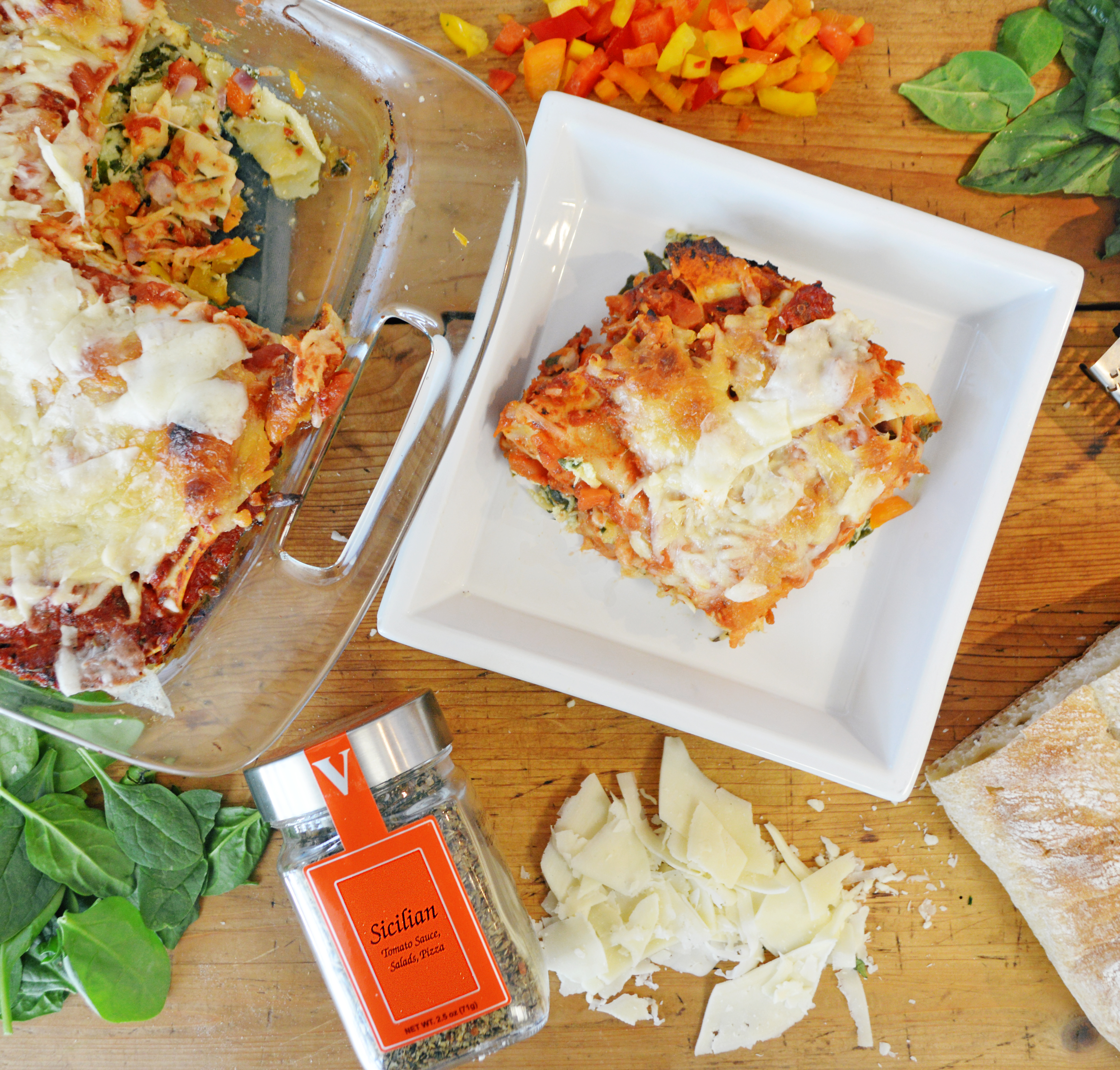 sicilian vegetarian lasagna seasoning spices victoria gourmet recipes