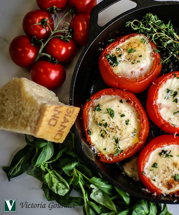 provencal eggs baked tomatoes herbes provence victoria gourmet recipe