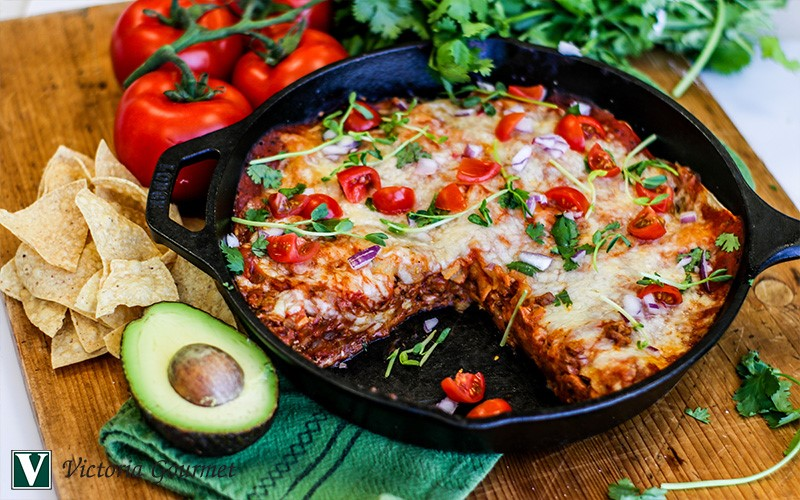 enchilada pie texas red seasoning victoria gourmet recipe