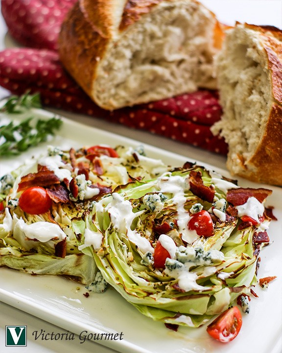 grilled wedge salad oregano bleu cheese dressing victoria gourmet recipe