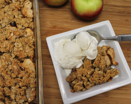 apple crisp pie spice sliced victoria gourmet recipe