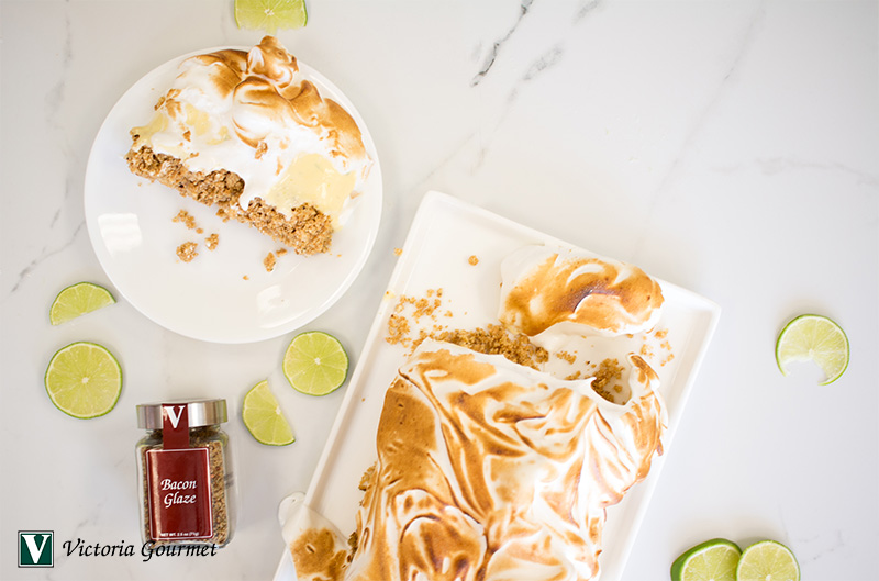 frozen key lime pie bacon glaze icy cold sweet victoria gourmet recipe