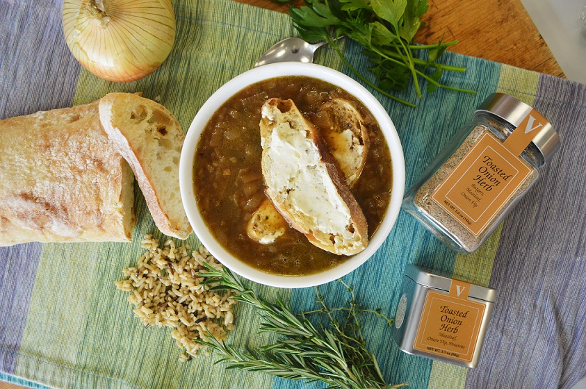 vidalia onion soup boursin toast spices victoria gourmet recipes