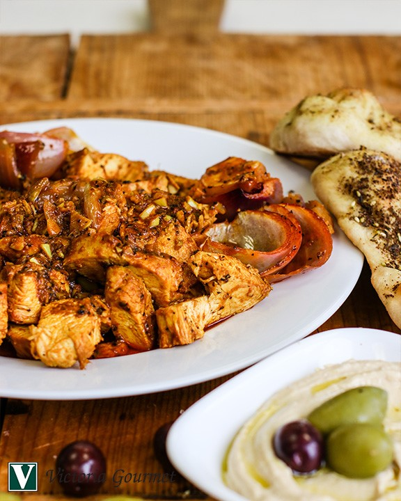 roasted chicken shawarma cumin victoria gourmet recipe
