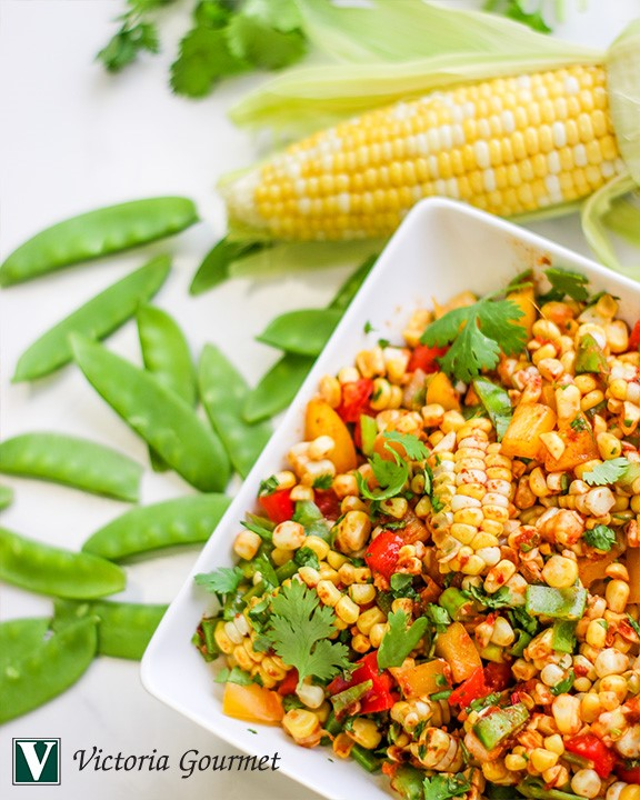 smoky corn salad paprika chipotle seasoning victoria gourmet recipes