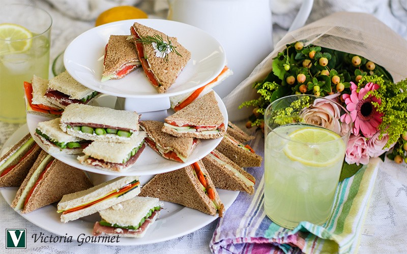 cucumber smoked salmon tea sandwiches zesty lemon herb victoria gourmet recipe