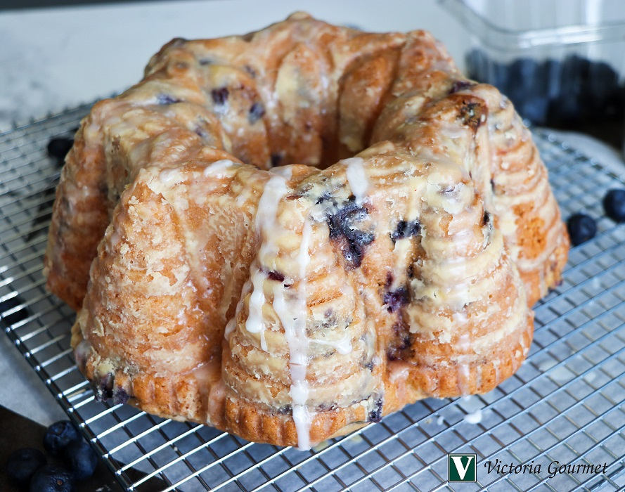 blueberry lemon poundcake cinnamon victoria gourmet recipe