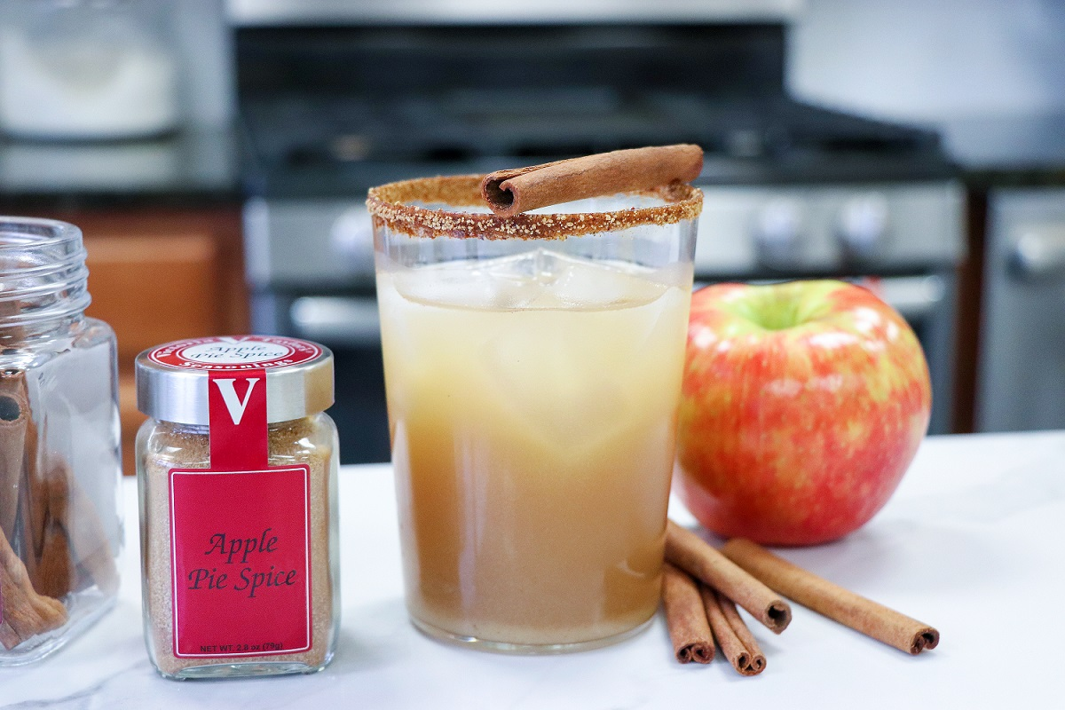 bourbon apple cider cocktail pie spice victoria gourmet recipe
