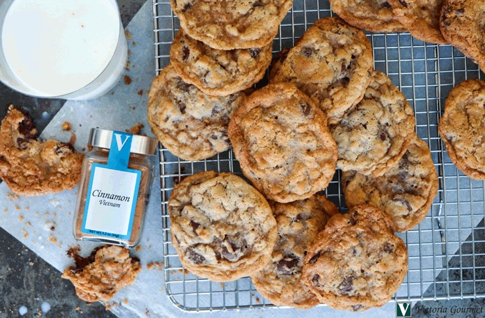 ultimate chocolate chip cookies cinnamon spices victoria gourmet recipes