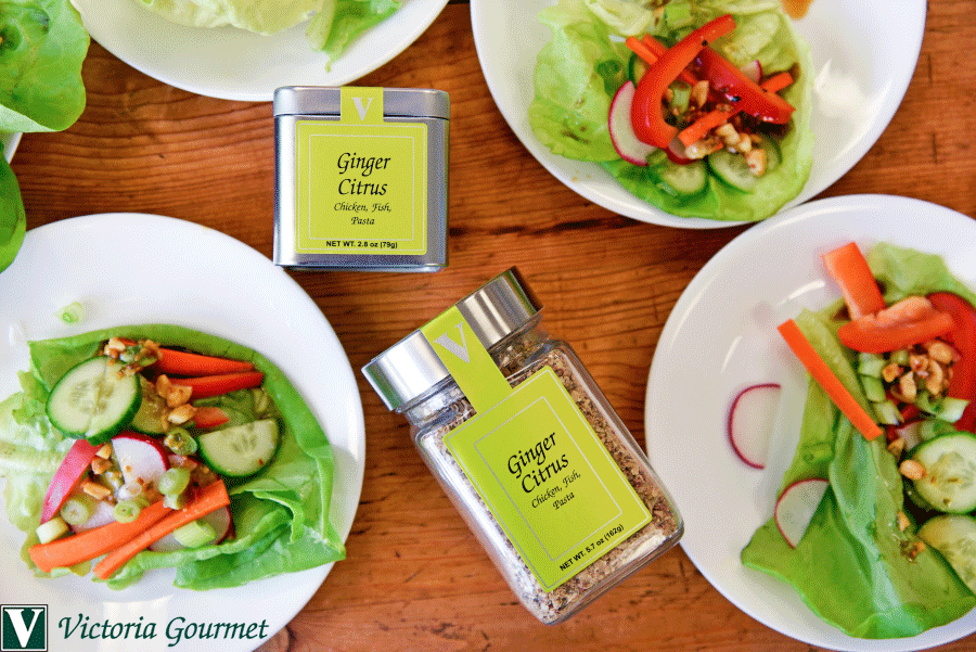 ginger citrus lettuce wrap seasoning victoria gourmet recipe