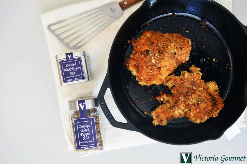 cracked black pepper oven fried chicken victoria gourmet recipe