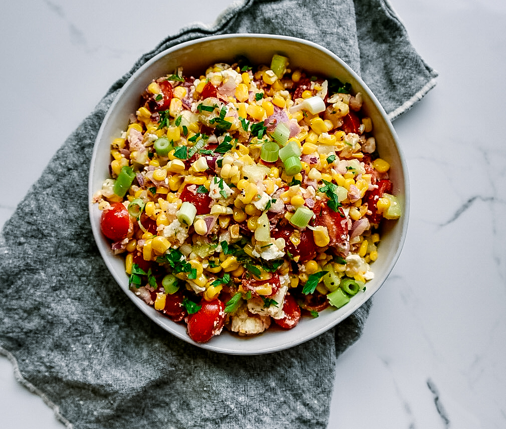fresh corn salad lemon pepper seasoning victoria gourmet recipe