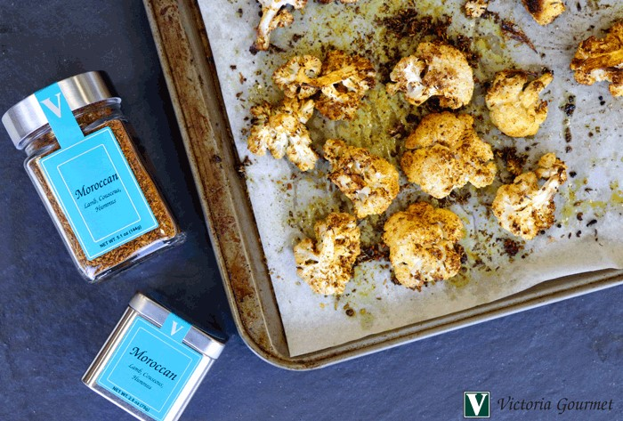 roasted moroccan cauliflower seasoning spices victoria gourmet recipes