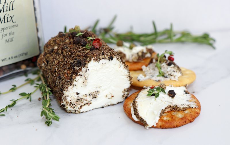 four pepper crusted goat cheese heat victoria gourmet recipe