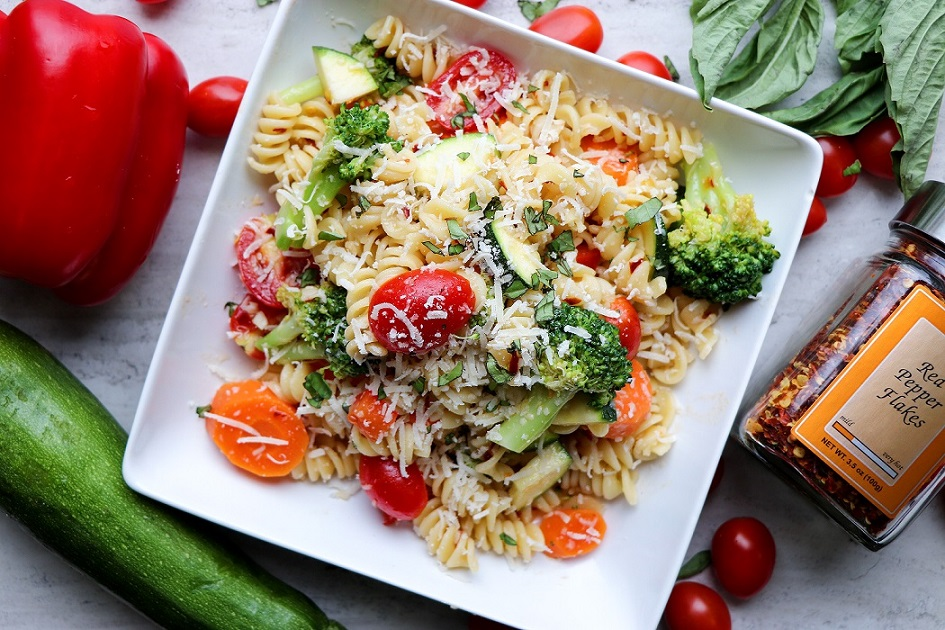 springtime pasta red pepper flakes victoria gourmet recipes