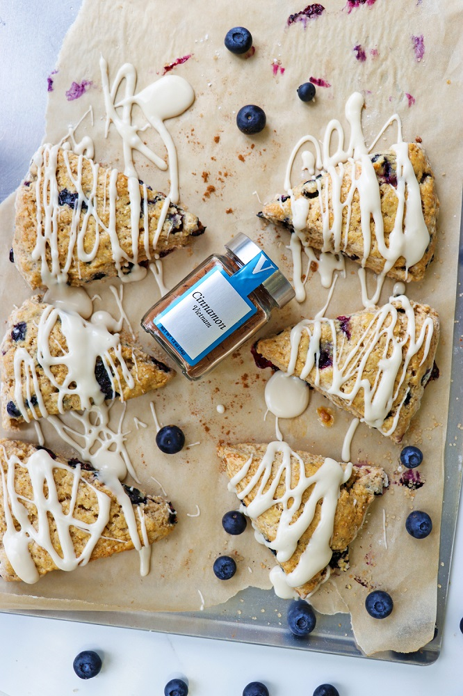 blueberry scones cinnamon sweet victoria gourmet recipe