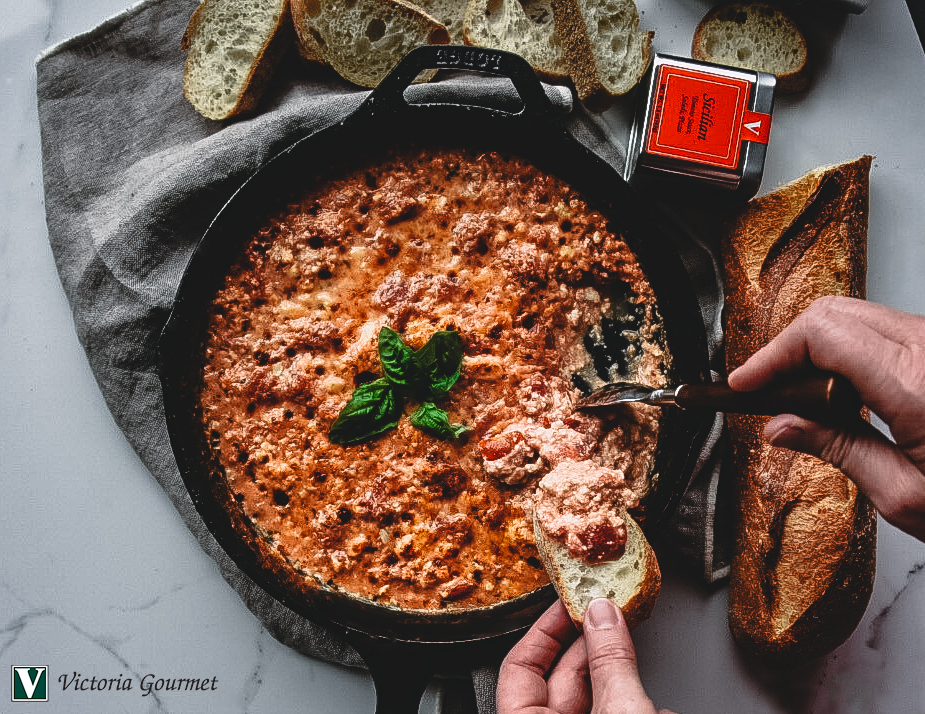 sicilian baked feta dip seasoning spices victoria gourmet recipes