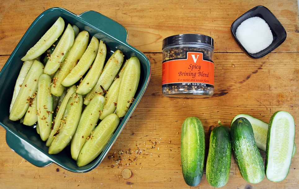 spicy deli style pickles blend spices victoria gourmet recipes