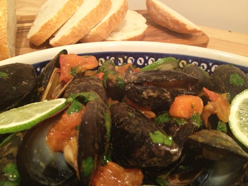 Mussels with Curried Butter Sauce