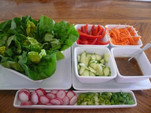 Asian Lettuce Wraps with Victoria Taylor's Ginger Citrus Seasoning Dressing