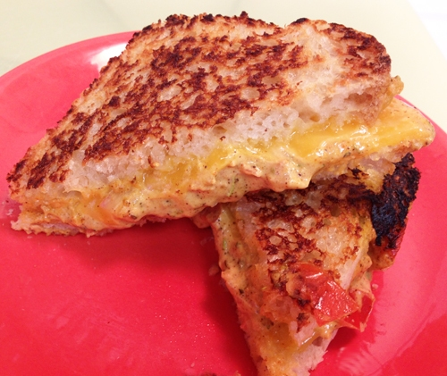 Moroccan Style Grilled Cheddar Cheese Sandwiches