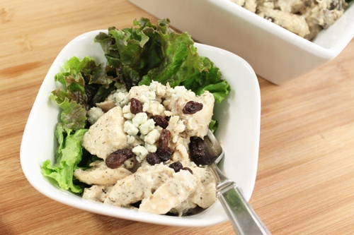 Chicken Salad with Blue Cheese and Roasted Walnuts