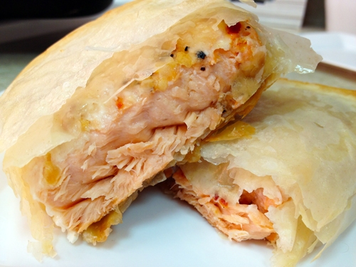 Phyllo Wrapped Lemon Pepper Salmon