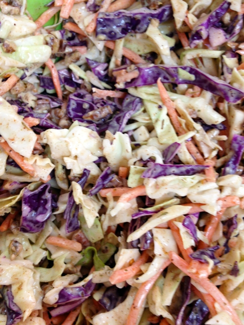 Jamaican Coleslaw with Victoria Taylor's Cinnamon Chile Rub