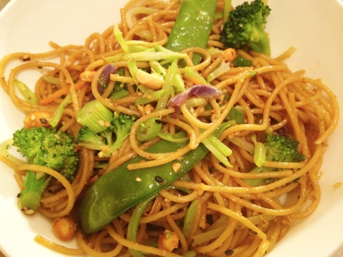 Toasted Sesame Ginger Noodles