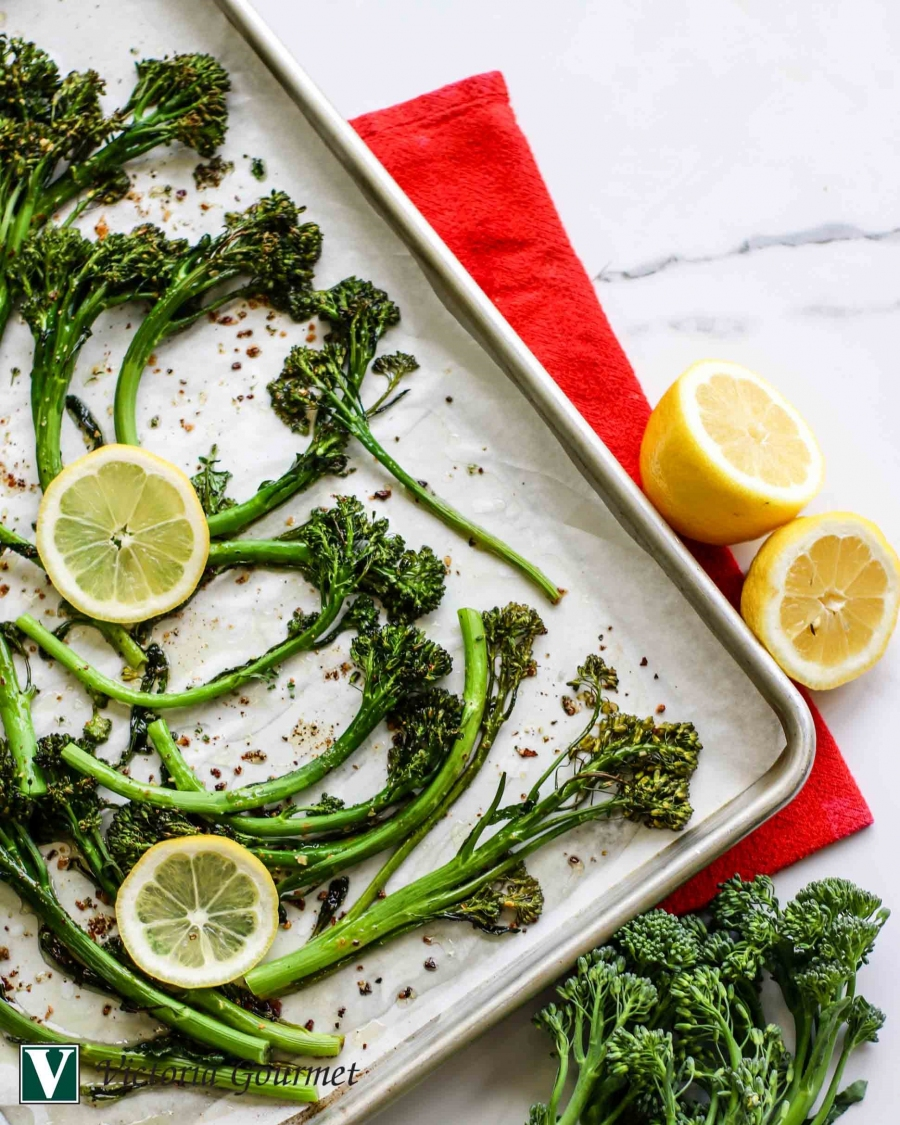 broccolini lemon pepper no-salt roasted victoria gourmet recipes