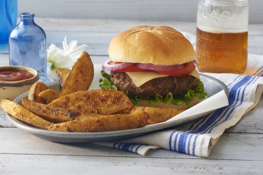 toasted onion herb burgers herb victoria gourmet recipes
