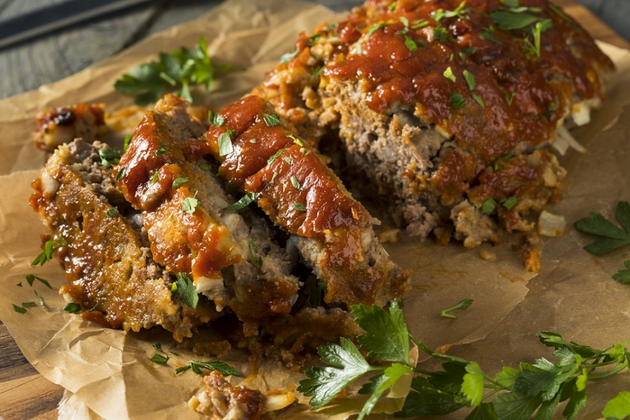 classic meatloaf toasted onion herb victoria gourmet recipe