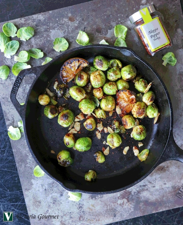sumac lemon roasted brussel sprouts spices victoria gourmet recipes