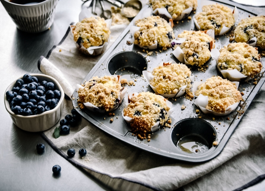 blueberry streusel muffin cinnamon fresh fruit victoria gourmet recipe