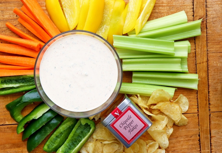 chipotle ranch dressing pepper flakes victoria gourmet recipe