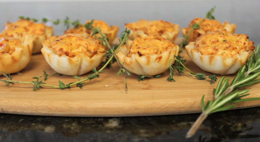 Fire-Roasted Tomato Goat Cheese Tartlets
