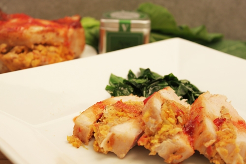 Corn Bread-Stuffed Pork Chops