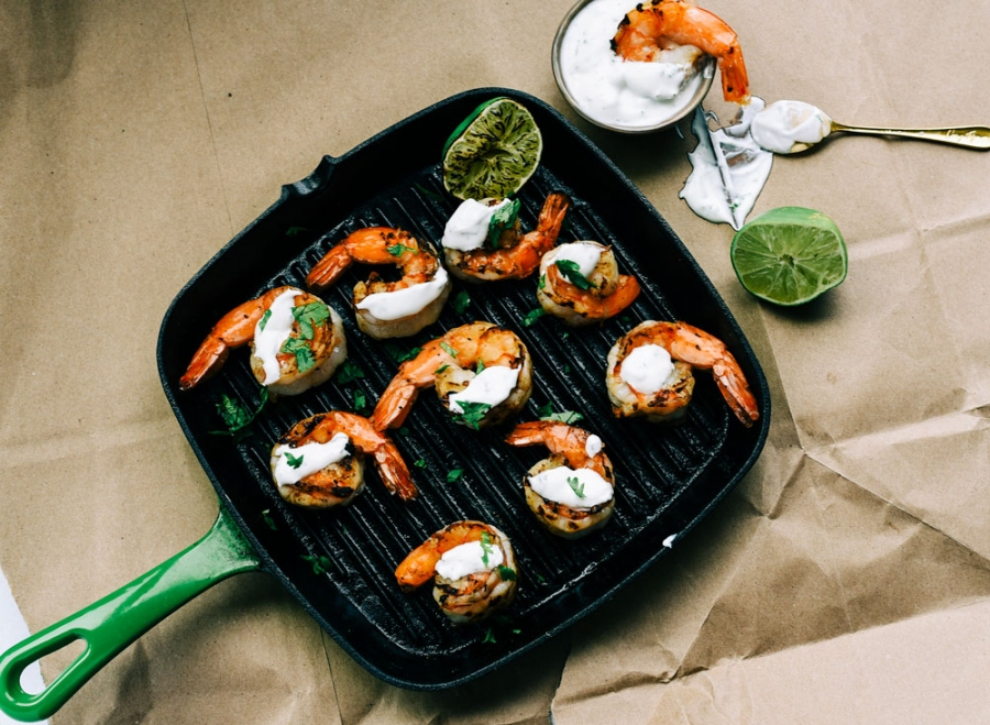sweet spicy grilled shrimp ginger honey crystals victoria gourmet recipes