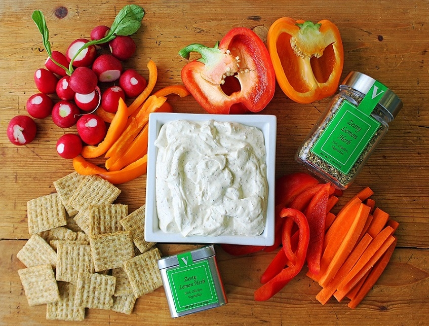 zesty lemon herb dip spices victoria gourmet recipes