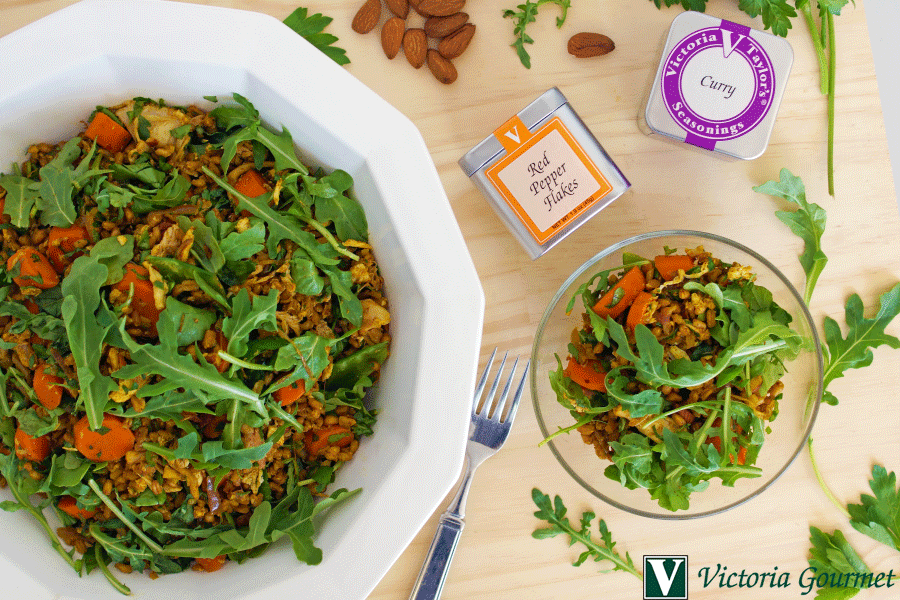 farro chicken curried salad seasoning victoria gourmet recipe