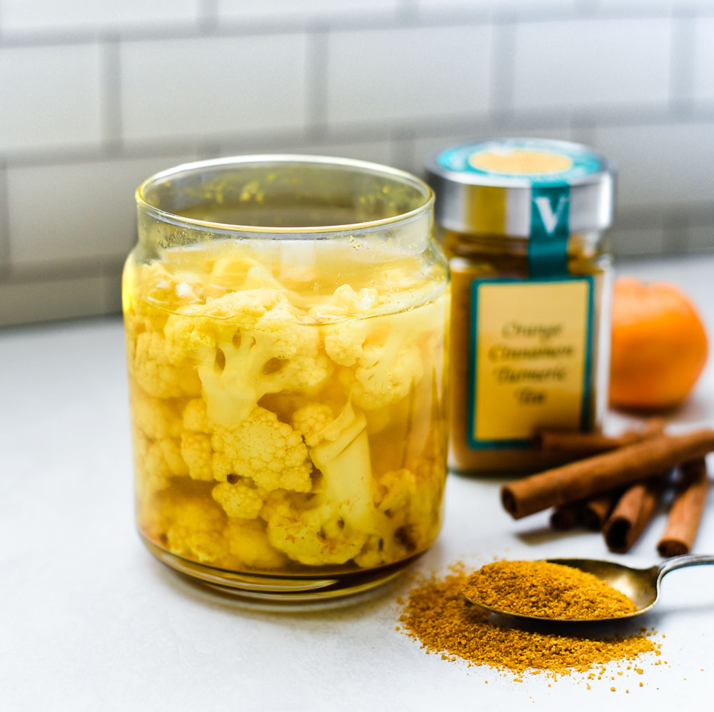 pickled cauliflower orange turmeric tea seasoning victoria gourmet recipe